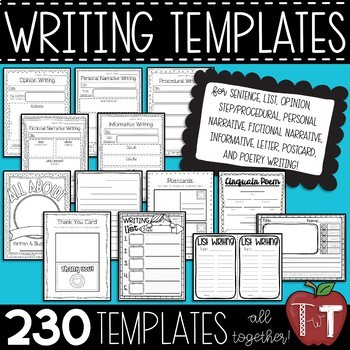Writing Center Board and Activities MEGA BUNDLE for students to Work on Writing