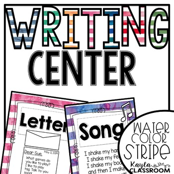Writing Center Display [Watercolor Stripes]