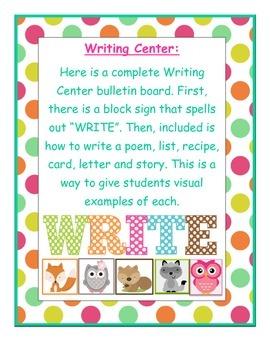 Writing Center Bulletin Board