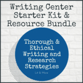 Writing Center Bundle - Starter Kit + 5 Writing Instructio
