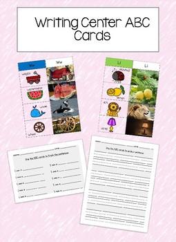 Writing Center Cards