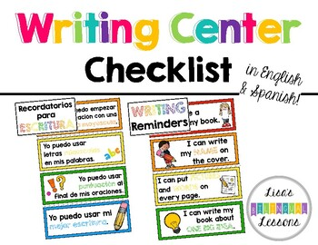 Writing Center Checklist and Reminders
