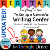 Writing Center Digital and Printable Distance Learning Google Drive
