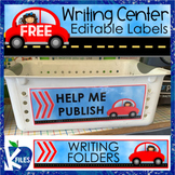 FREE Editable Writing Center Labels
