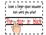 Writing Center - Finger Space Between Words