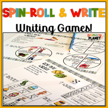 Writing Center Games with Spinners and Dice