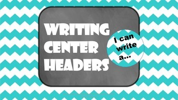Writing Center Headers and Pennants- Literacy Center