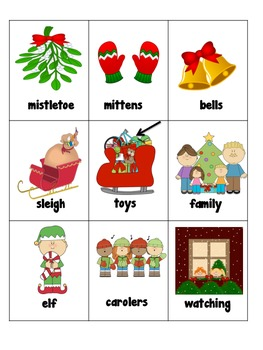 Writing Center Holiday Season Syllable sort, Vocabulary words, writing prompts