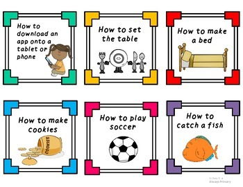 "Writing Center ""How To"" Cards"