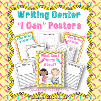 "Writing Center ""I CAN"" Posters"