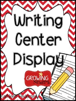Writing Center I Can Cards {Display}