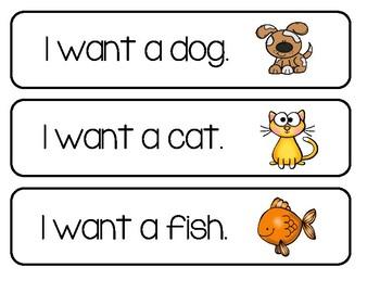 "Writing Center - ""I want"" Sentences"