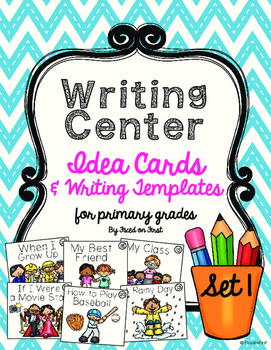 Writing Center Idea Cards and Writing Templates for Primary Grades
