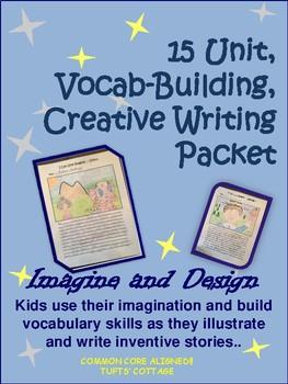 Writing Center, Imagine, Design and Vocabulary Writing Unit