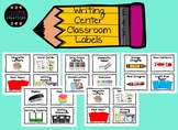Writing Center Classroom Labels