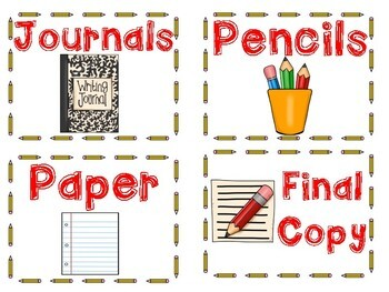 Writing Center Labels (Writing Process and More)