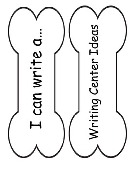 Writing Center Labels (bone shape for dog theme)