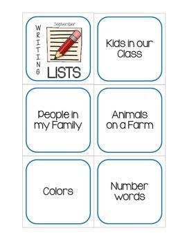 Writing Center: List Making Edition