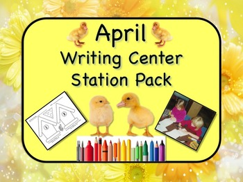 Writing Center Literacy Station for April - Mountains of Fun!! NO PREP!!