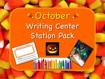 Writing Center Literacy Station for Autumn / October - Oodles of Fun!!