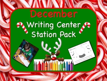 Writing Center Literacy Station for December  - Sprinkles of Fun!!
