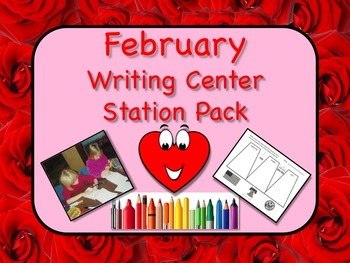 Writing Center Literacy Station for February - Scads of Fun!! NO PREP!!
