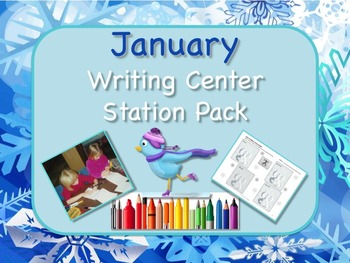 Writing Center Literacy Station for January  - Heaps of Fun!!