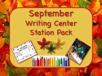 Writing Center Literacy Station for September  - Bushels of Fun!