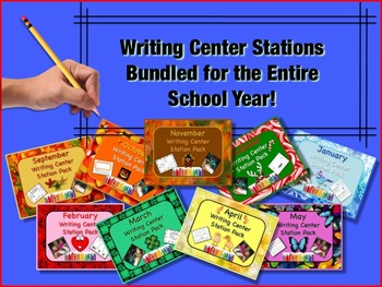 Writing Center Literacy Stations THE COMPLETE BUNDLED SET!! Oodles of fun!