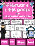 Kindergarten Writing Center -  February Little Books