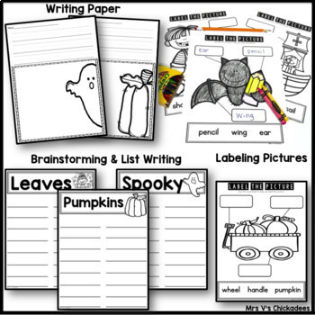 BUNDLE: October Writing Activities and Centers