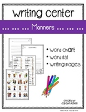 Writing Center:   Manners