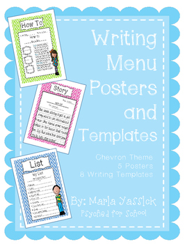 Writing Center Menu and Writing Templates