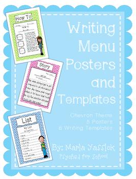 Writing Center Menu and Writing Templates