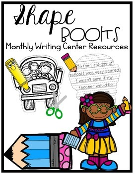 Writing Center : Monthly Shape Books