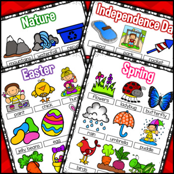 Writing Center Monthly Word Posters