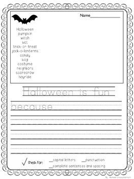 Writing Center Pages-Holiday and Seasonal Themes