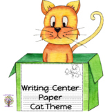 Writing Center Paper Cat Theme