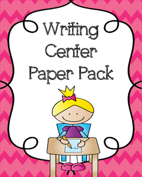 Writing Center Paper Pack {20 Pages of Writing Paper Templates}