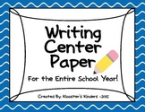 Writing Center Paper for the Entire Year! Differentiated!