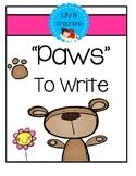 "Writing Center - ""Paws"" To Write"