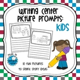 Writing Center Picture Prompts: Kids Set