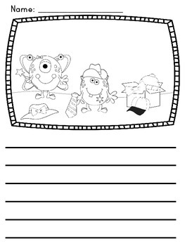 Writing Center Picture Prompts: Monsters and Aliens Set