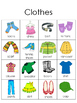 Writing Center Picture and Word Charts:  Set 1