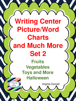Writing Center Pictures and Words:  Set 2