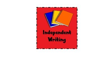 Writing Center Pocket Chart Labels