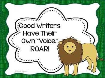 Classroom Decor {Safari} Writing Center Posters