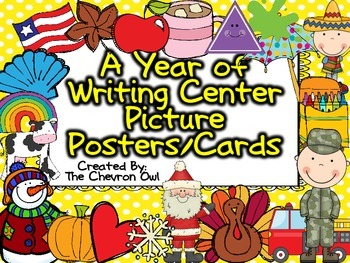 A Year of Writing Center Picture Posters/Cards