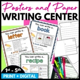 Writing Center Posters and Writing Paper Templates