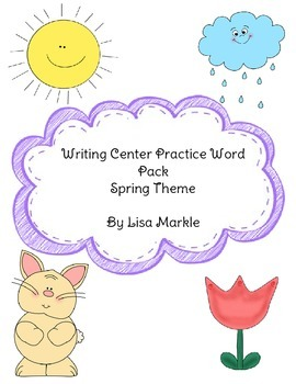Writing Center Practice Word Pack Spring Theme